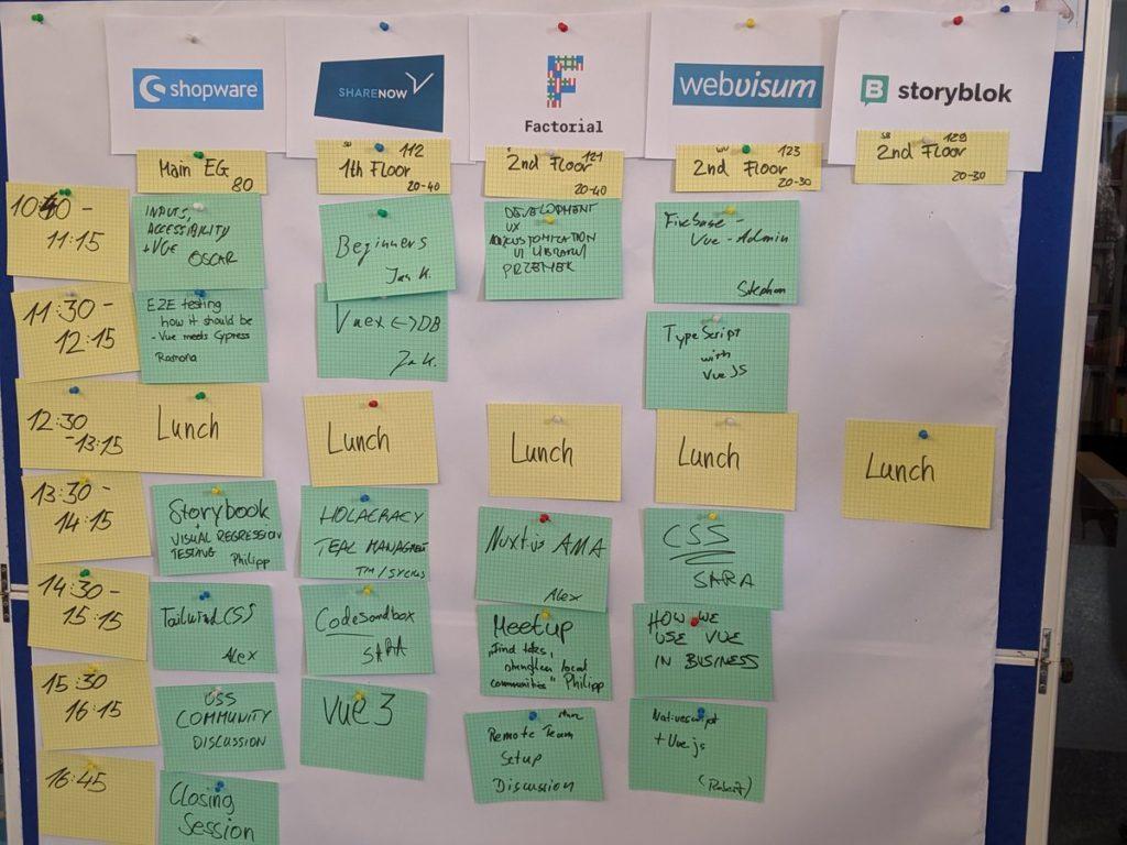 Programm Barcamp Vue