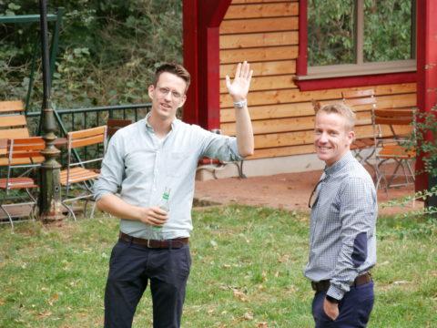 PHMU-Inhaber Philipp und Gast Tom