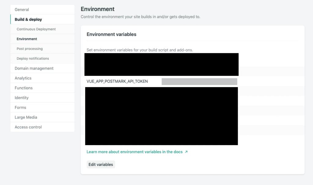 API Key Environment