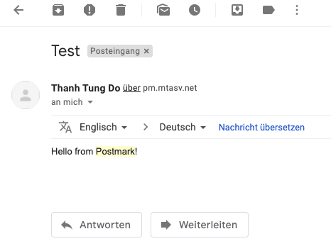 Testing E-Mail